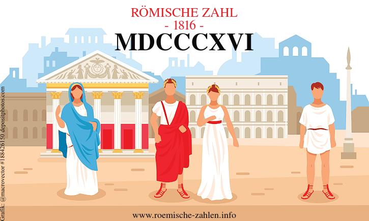 Römische Zahl 1816