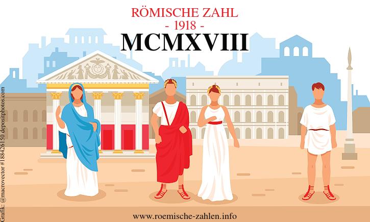 Römische Zahl 1918