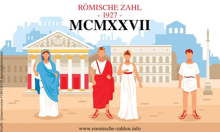 Römische Zahl 1927