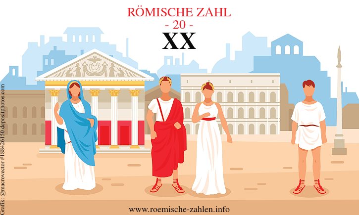 Römische Zahl 20