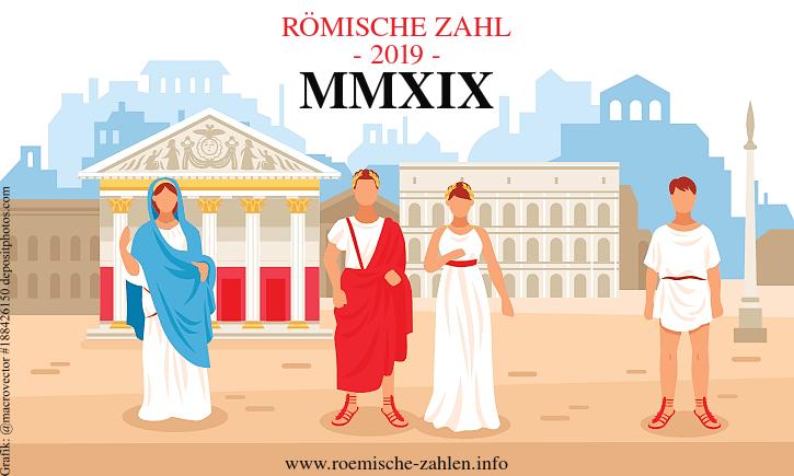 Römische Zahl 2019