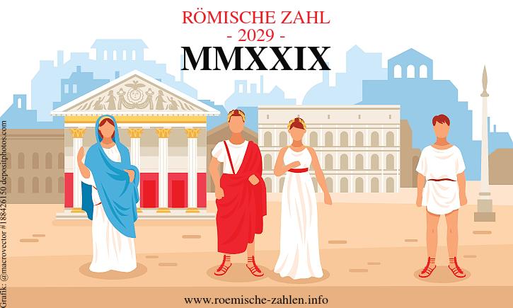 Römische Zahl 2029