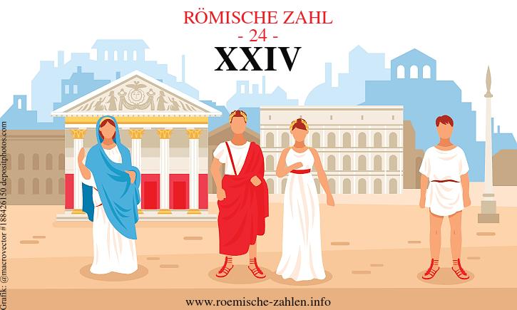 Römische Zahl 24
