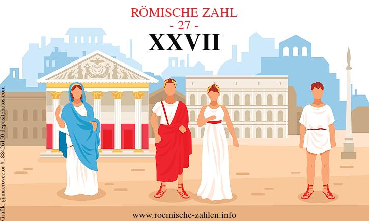Römische Zahl 27