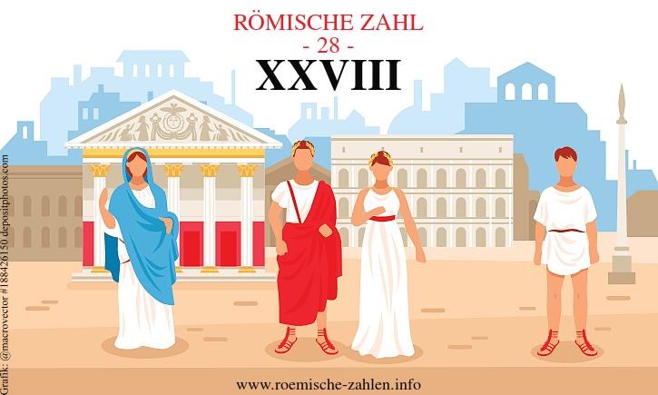 Römische Zahl 28