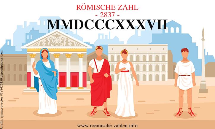Römische Zahl 2837