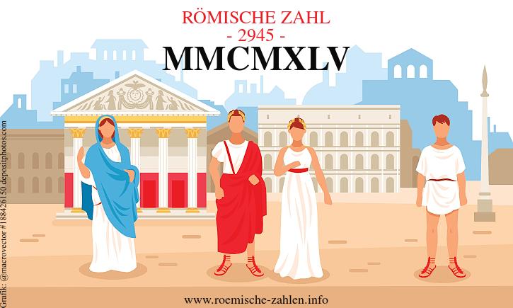 Römische Zahl 2945