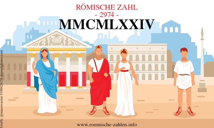 Römische Zahl 2974
