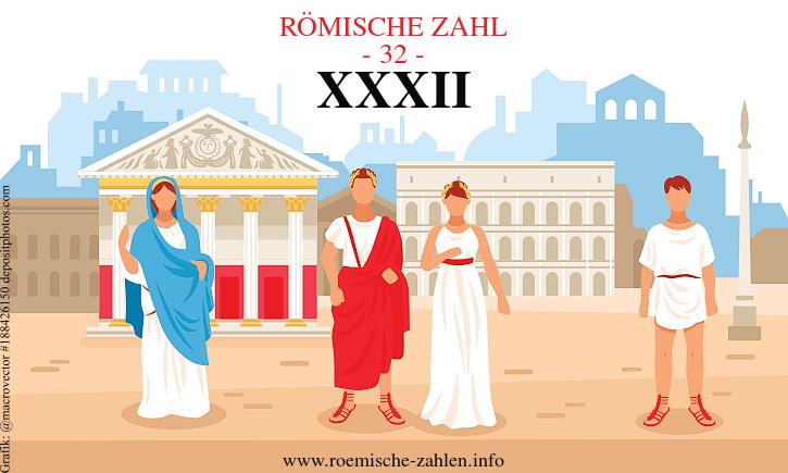 Römische Zahl 32