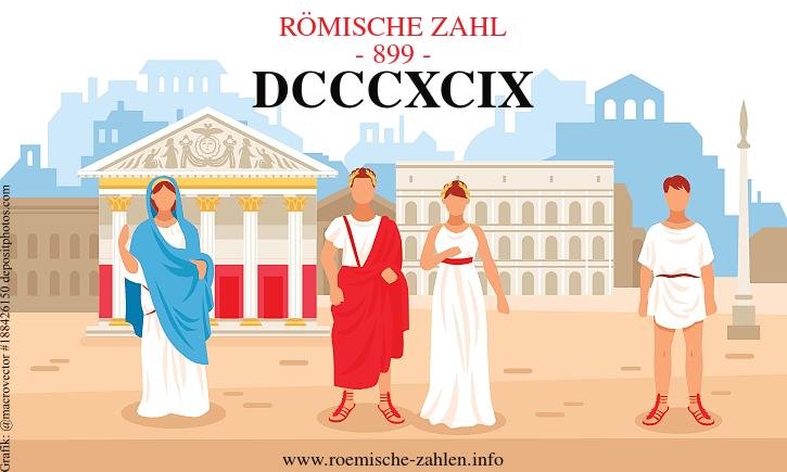 Römische Zahl 899